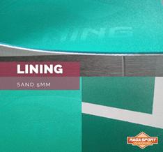 Jual Lantai Karpet Lapangan badminton merk lining type sand