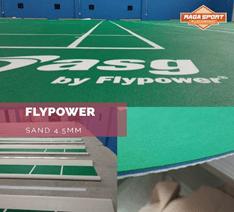 Biaya Pembuatan Lapangan Badminton Jenis Karpet Vinyl Merk FlyPower
