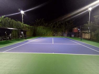 Biaya Pembuatan Lapangan Badminton Jenis Karpet Flexy Pave Plus Silica