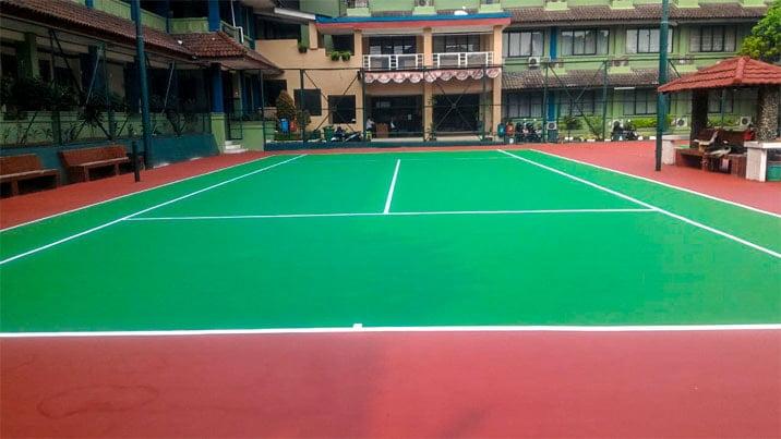 Biaya Pembuatan Lapangan Badminton Jenis Karpet Flexy Pave Plus Rubber