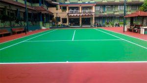 Jasa Pembuatan Lapangan Badminton Karpet Flexy Pave