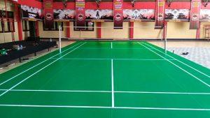 Jasa Pembuatan Lapangan Badminton Karpet Vinyl