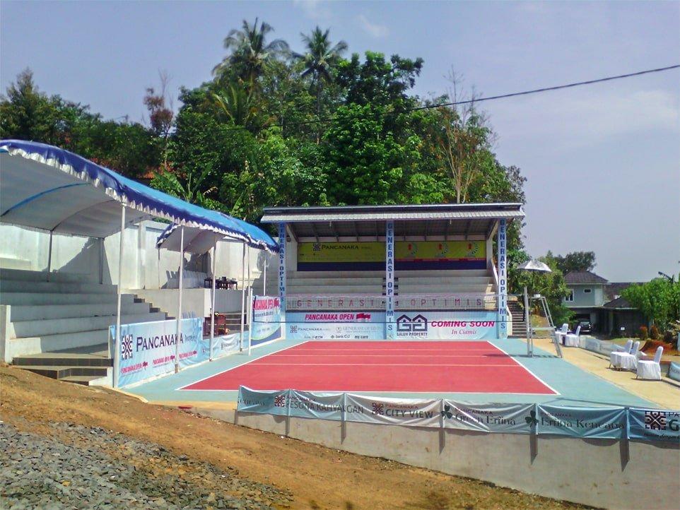 Lapangan voli mewah di desa