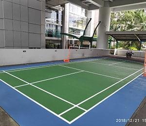 jasa pengecatan lapangan badminton