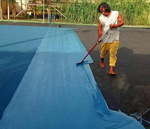 flexy pave sillica karpet lapangan badminton