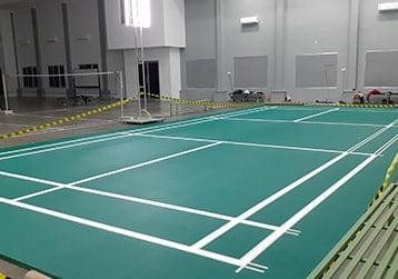 lantai lapangan badminton