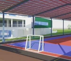 gawang lapangan futsal portabel