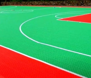 interlock lapangan basket outdoor