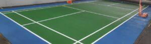jasa pengecatan lapangan badminton flexi pave