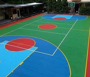 flexi pave lapangan basket