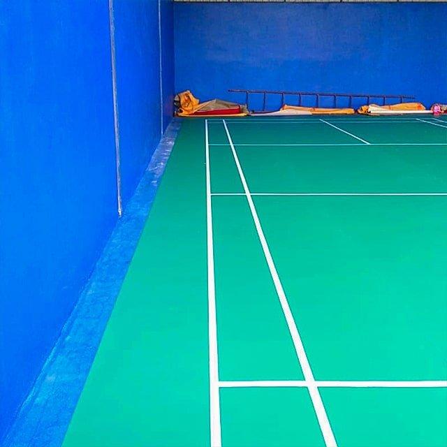 karpet vinyl lapangan badminton flypower