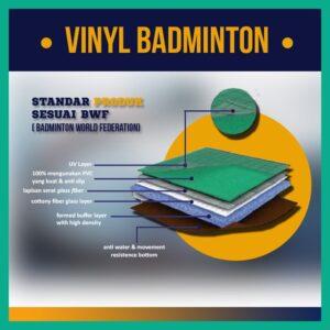 lapisan karpet vinyl lapangan badminton