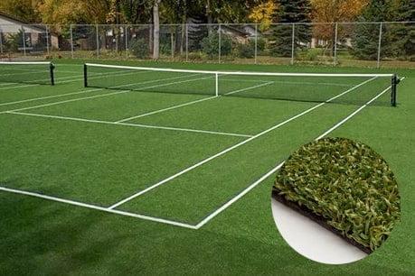 lapangan tenis rumput sintetis